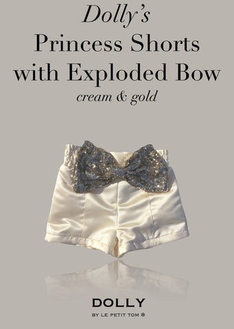 Princess Shorts with Exploded Bow - off white - le faire - Le Petit Tom - 1