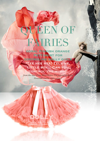 Pettiskirt - Queen of Fairies - coral - le faire - Le Petit Tom - 1