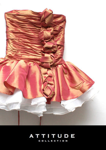Rapunzel Dress - ruby gold - le faire - Le Petit Tom - 1