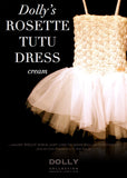 Rosette Tutu Dress – cream - le faire - Le Petit Tom - 1