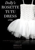 Rosette Tutu Dress – white - le faire - 1