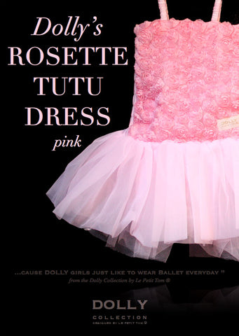 Rosette Tutu Dress – pink - le faire - Le Petit Tom - 1