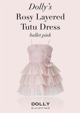 Rosy Layered Tutu Dress - ballet pink - le faire - Le Petit Tom - 1