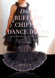 Ruffled Chiffon Dance Dress - dark grey - le faire - Le Petit Tom - 1