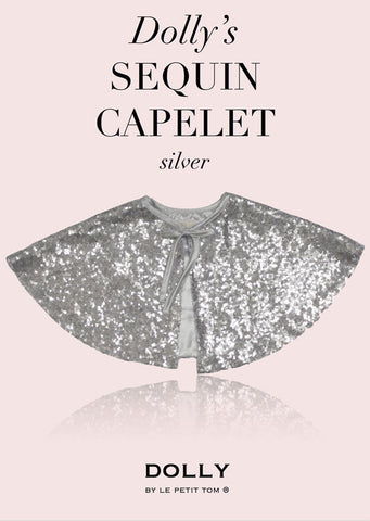 Sequined Capelet - Silver - le faire - Le Petit Tom - 1