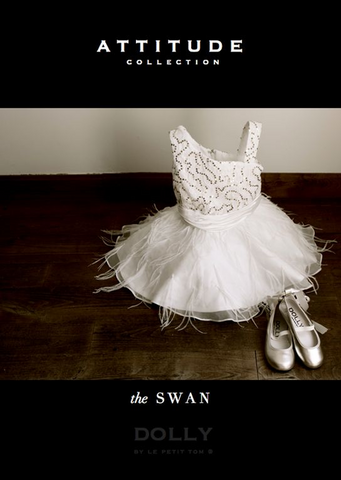 The Swan Dress - white/silver - le faire - Le Petit Tom - 1