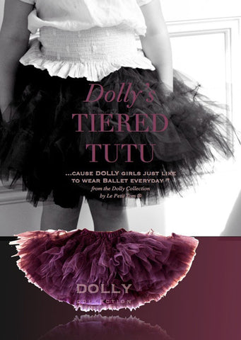 Tiered Tutu - aubergine - le faire - Le Petit Tom - 1