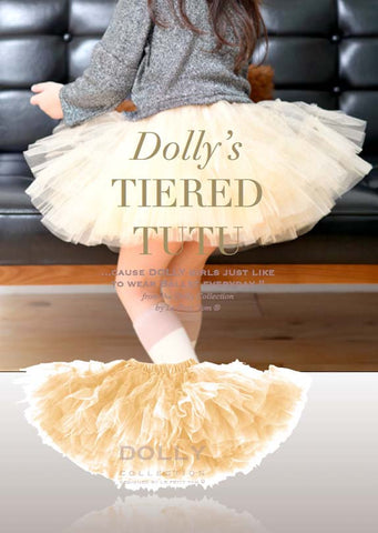 Tiered Tutu - gold - le faire - Le Petit Tom - 1