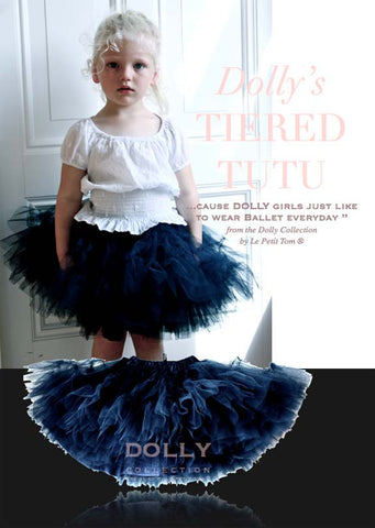 Tiered Tutu - dark navy - le faire - Le Petit Tom - 1