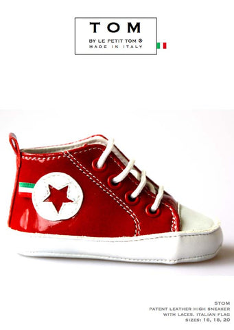 Shoes - High Sneaker - red - le faire - Le Petit Tom - 1
