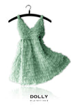 Totally Ruffled Dress - sea green - le faire - Le Petit Tom - 3