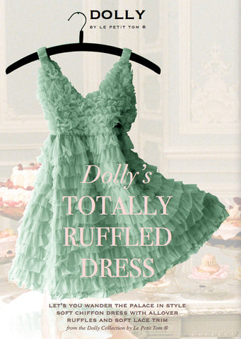 Totally Ruffled Dress - sea green - le faire - Le Petit Tom - 1