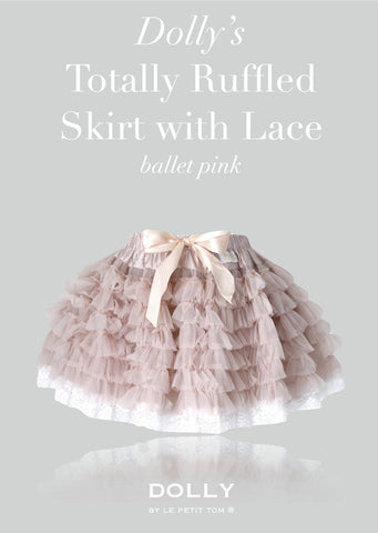Totally Ruffled Skirt - ballet pink - le faire - Le Petit Tom - 1