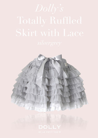 Totally Ruffled Skirt - silver grey - le faire - Le Petit Tom - 1