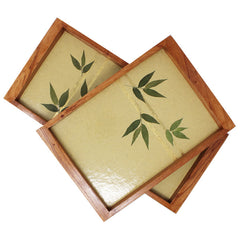 Golden Bamboo Trays