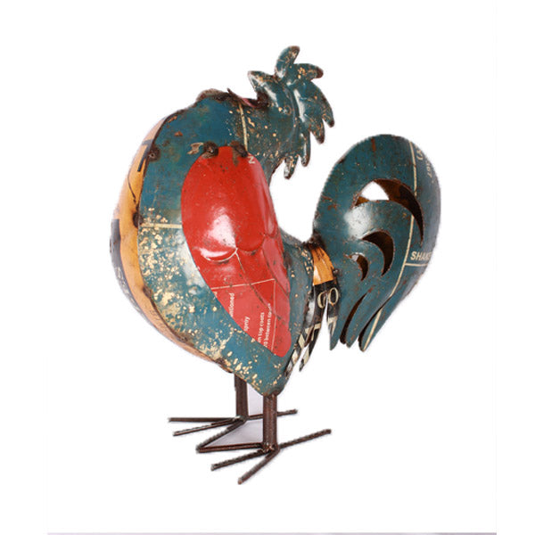 Recycled Metal Rooster