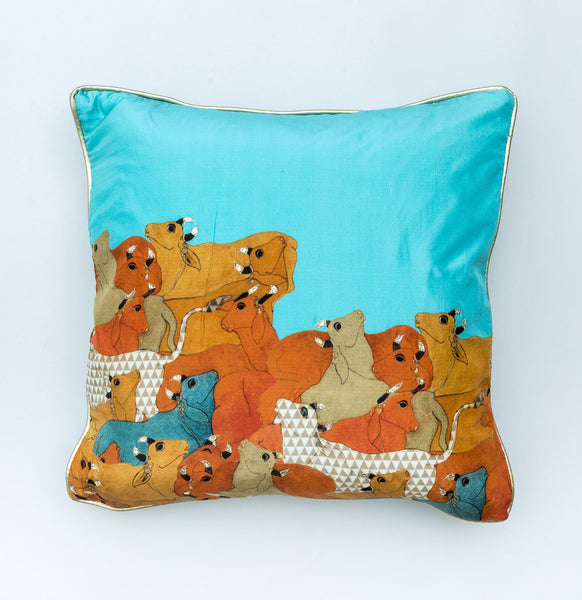 Pichwai Herd of Cows Cushion Covers