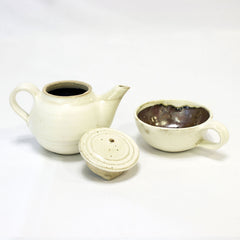 Tea pot with Cup - Ivory