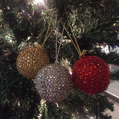 Glitter Christmas Balls ( Set of 3)