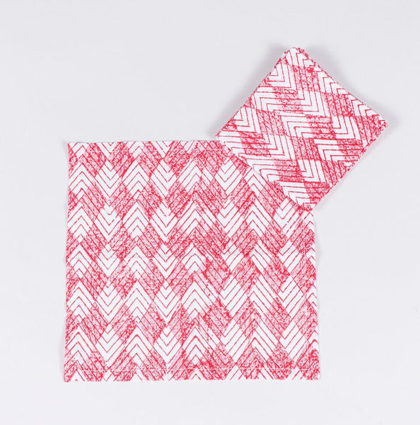 Red Diamond Cocktail Napkins s/4
