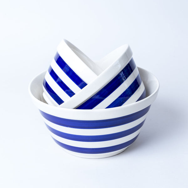 Striped Bowls Blue