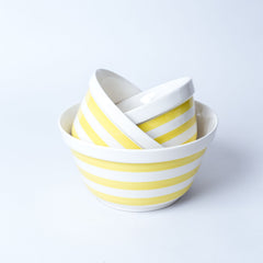 Striped Bowls Yellow