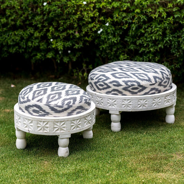 Pushkar Carved Stool (S)