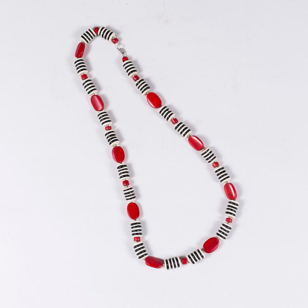Zebra Necklace (Red)