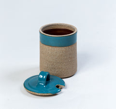 Céramique Jam Pot Blue