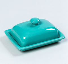 Ceramic Butter Dish Blue