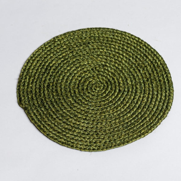 Sisal Table Mats Olive Green