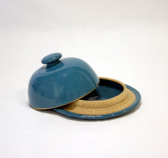 Céramique Butter Dish Blue