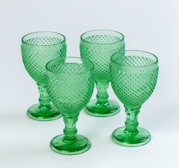 Solitaire Goblets Mint Green