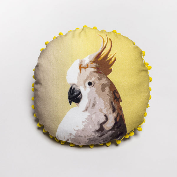Rainforest Cockatoo Cushion Cover