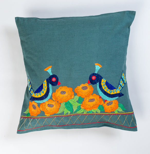 Dancing Bird Cushion Cover