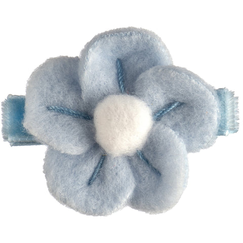 Cora Nordic Fleece Flower Baby Bow - Hairclippy