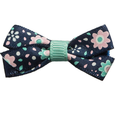 Olive Mini Flower Bows - Hairclippy