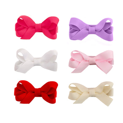 Bridget 6 pack Baby Hair Bows - Hairclippy