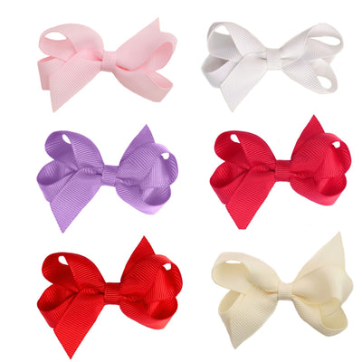 Kellie 6 Pack Toddler Hair Bows - Hairclippy