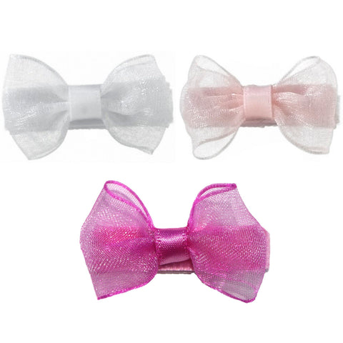 Zoey 3 Pack Organza Baby Bows