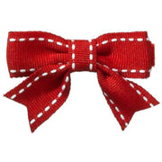 Abby Top-stitched Baby Hair Bows - Hairclippy