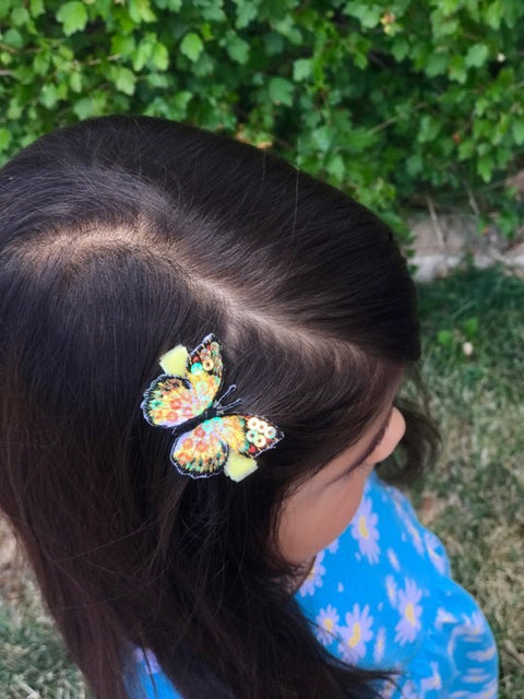Blake Glitter Butterfly Toddler Hair Clips