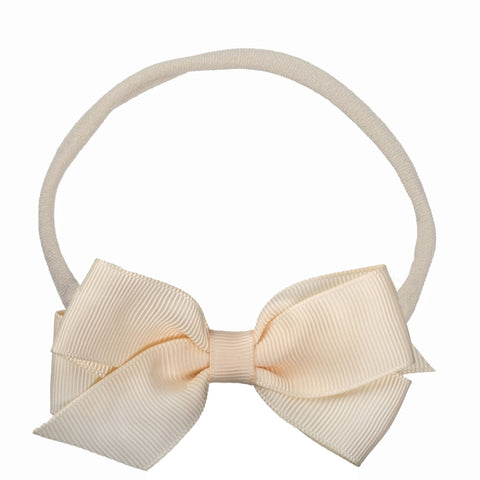 Skinny Headband with Grosgrain Princess Bow