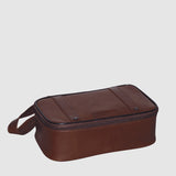 Veneto Top Zip Leather Dopp Kit