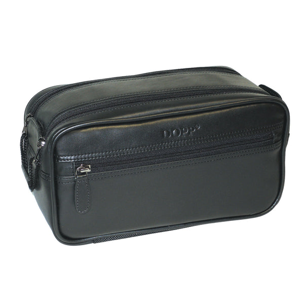 Black, Dopp-first-class-soft-sided-multi-zip-kit