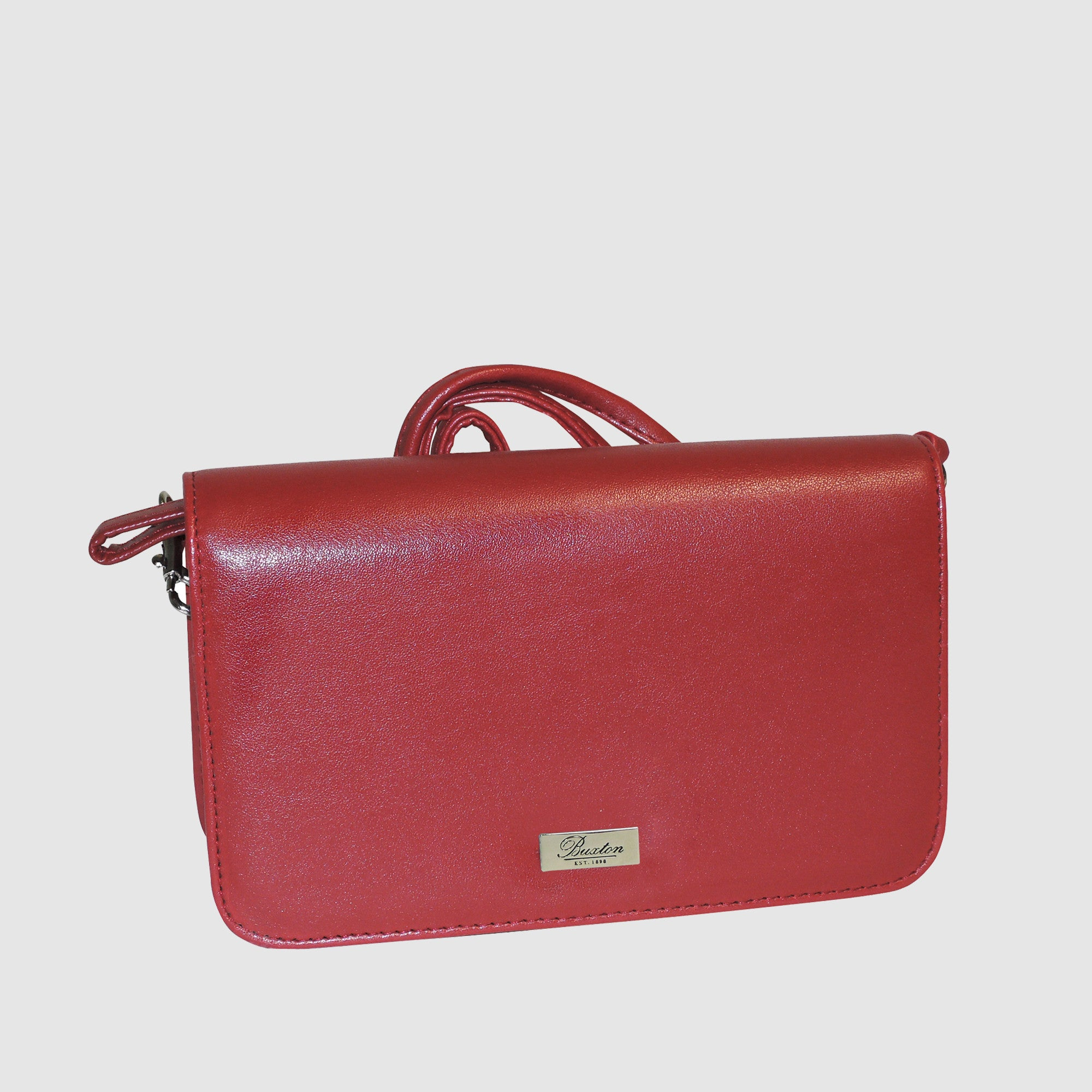 Mini Bag - Check Clutch On A String - Red