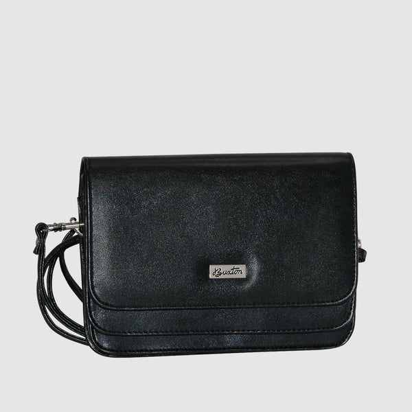Black, Mini-bag-double-flap