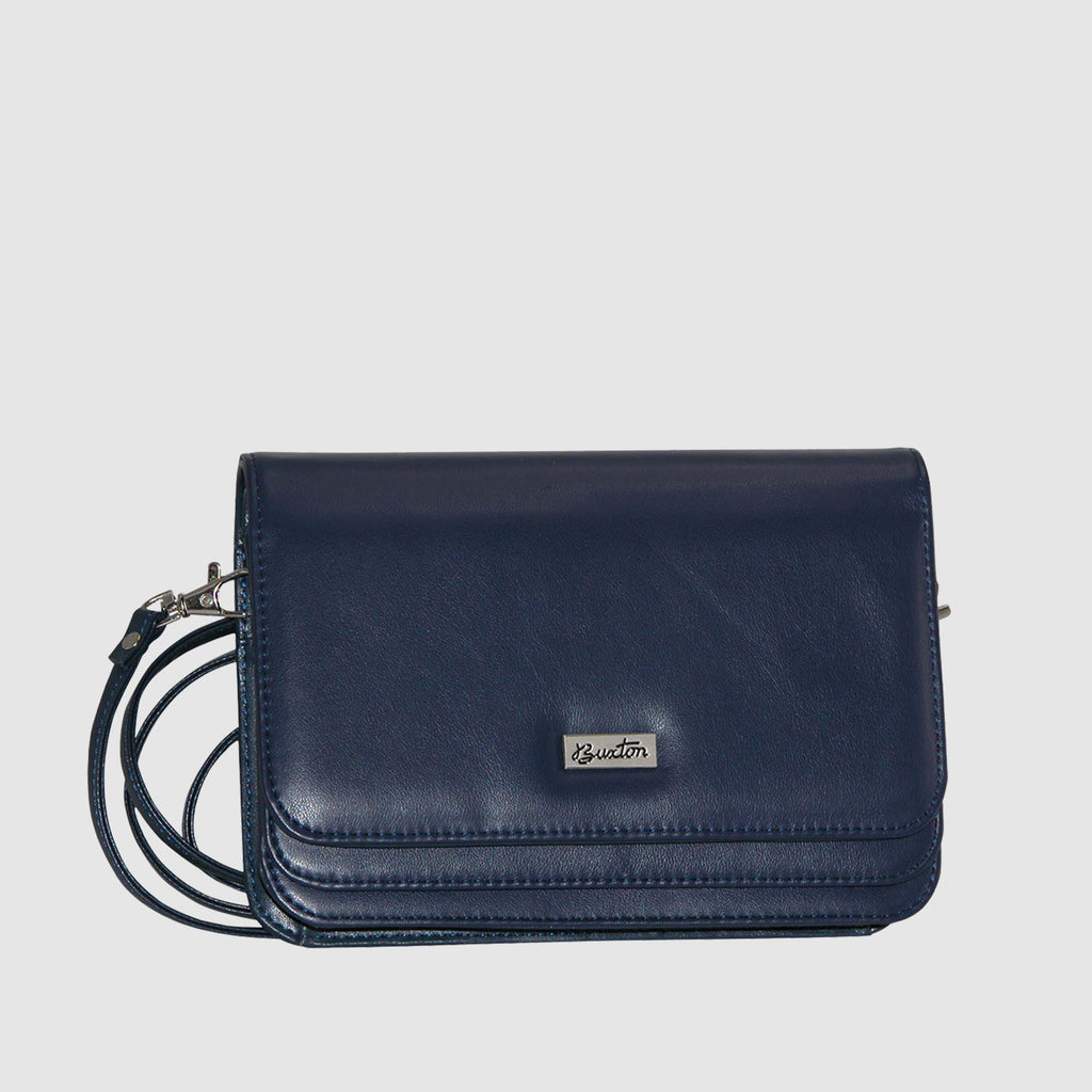 Navy, Mini-bag-double-flap