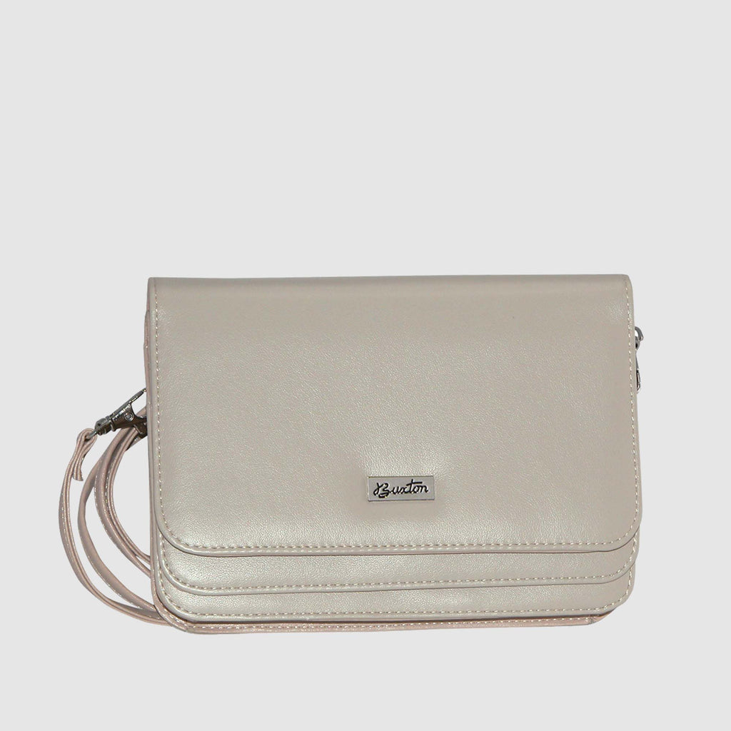 Taupe, Mini-bag-double-flap