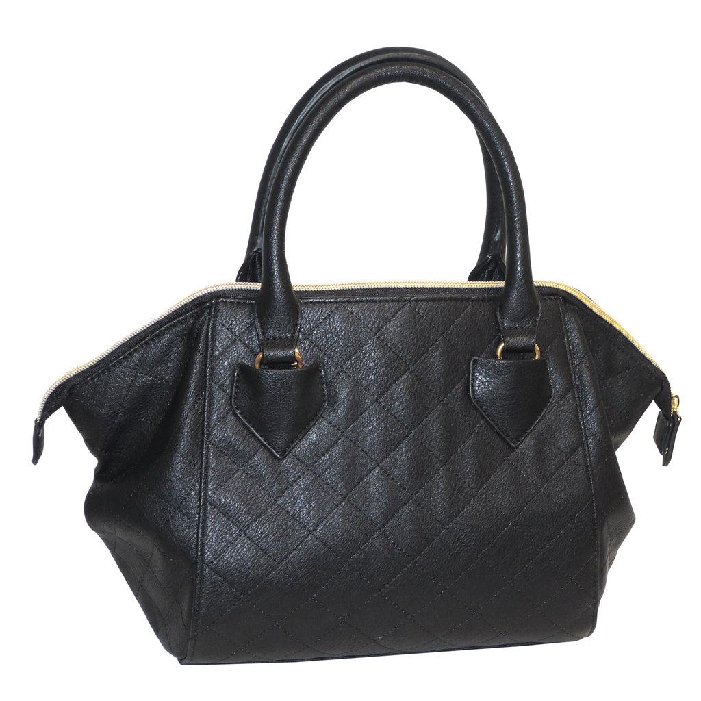 Double Diamond Quilted Satchel